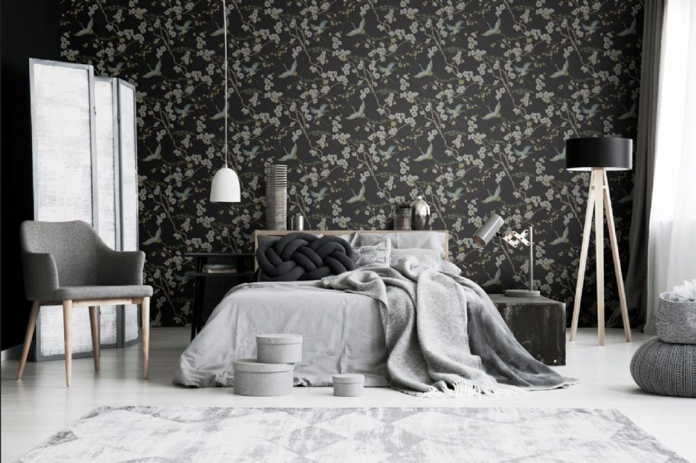 Graham and Brown Japan Black 105984 Wallpaper PB